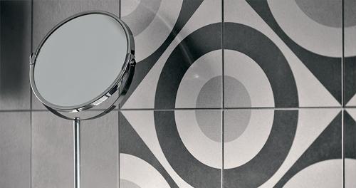 Fioranese cementine black white ceramiche sassuolo outlet