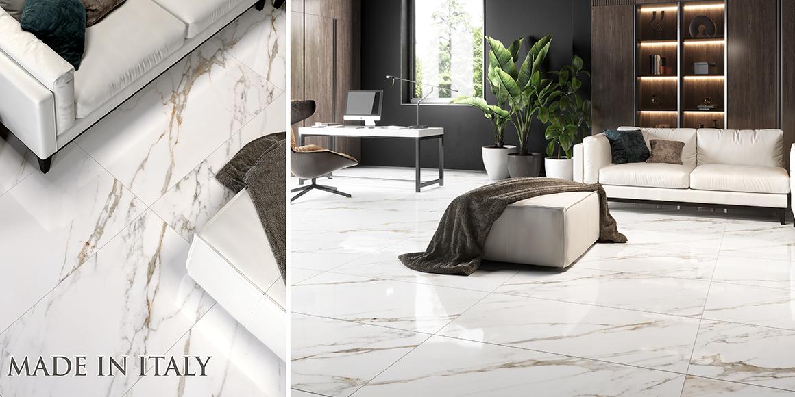 Superofferta effetto marmo ELITE calacatta oro 60×120 – PROD. ITALIANA